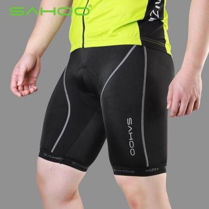Фото велошорты Sahoo черные с белой полоской