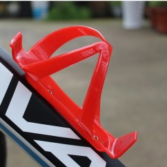 Картинка флягодержатель на раму велосипеда, пластиковый, красный, DL15