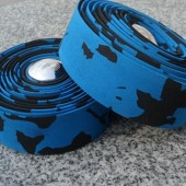 Фото обмотка для велосипедного руля, сине-черная