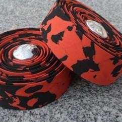 Фото обмотка для велосипедного руля, красно-черная