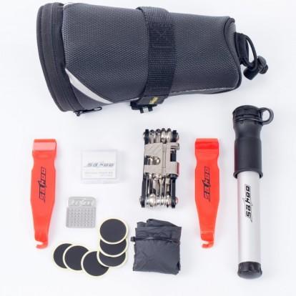 Фото велосумка под седло с инструментами Sahoo черная