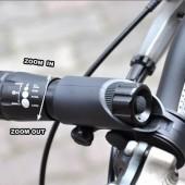 Фото фонарь велосипедный с зумом