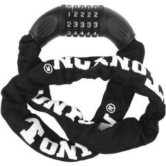 Фото велозамок цепной кодовый Tonyon черный 900мм