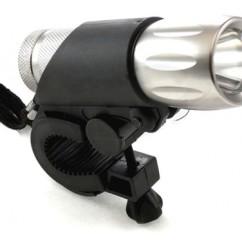 Картинка фонарь передний для велосипеда 2K 1Вт серебристый