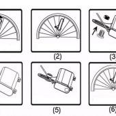 Картинка освещение на спицы велосипеда HW 32 диода 42 изображения