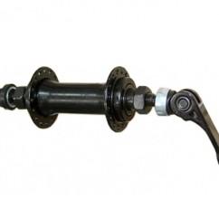 Картинка втулка для переднего колеса велосипеда Bikeland ,черная, 36 отв.,эксцентрик