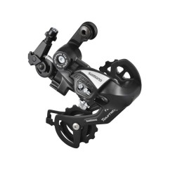 Фото переключатель задний для велосипеда на 6-7 скоростей Shimano TZ55 (черный)