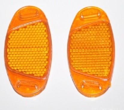 """Фото катафот на спицы велосипеда """"Медалька"""" оранжевый"""
