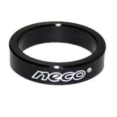 Фото проставочное кольцо для рулевой колонки велосипеда NECO 5 мм черное