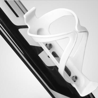 Флягодержатель на раму велосипеда пластиковый, белый, DL15