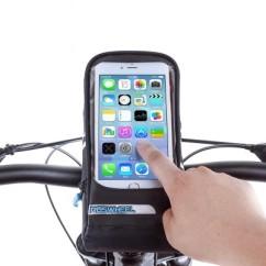 """Фото велосумка на руль с держателем для телефона до 5,7"""" Roswheel серия Pro черная"""