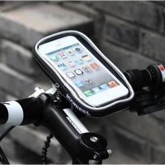 Фото Велосипедный держатель для телефона на руль Roswheel черно-серый