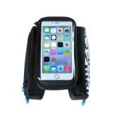 Фото велосумка на раму Roswheel серия Pro с держателем для телефона до 5,7 дюйма и боковыми карманами, черная
