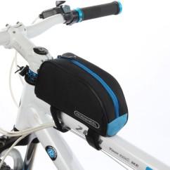 Картинка велосумка на раму Roswheel черно-синяя