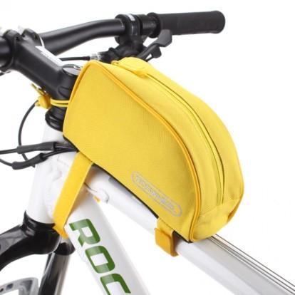 Картинка велосумка на раму Roswheel желтая