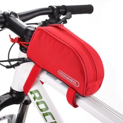 Картинка велосумка на раму Roswheel красная