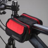 Картинка велосумка на раму 1L водостойкая Roswheel черно-красная