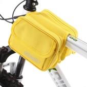 Картинка велосумка на раму 1L водостойкая Roswheel желтая