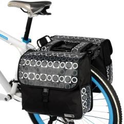 Фото велосумка на багажник 28L Roswheel с рисунком, черно-серая