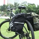 Сумка на багажник велосипеда 15L боковая Roswheel зеленая