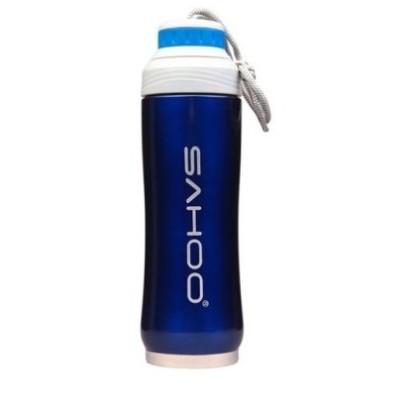 Фляга-термос велосипедная Sahoo синяя 350 мл