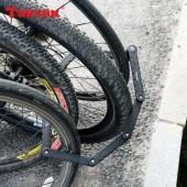 Фото замок для велосипеда кодовый из пластин с креплением на раму (желтый)
