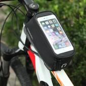 Фото велосумка на раму Roswheel серия Limited с держателем для телефона до 5,7 дюйма, черная