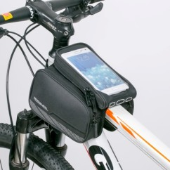 Фото велосумка на раму Roswheel серия Limited с держателем для телефона до 5,7 дюйма и боковыми карманами,черная