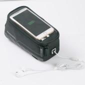 Фото велосумка на раму Roswheel серия Limited с держателем для телефона черная