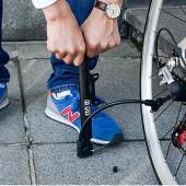 Фото насос для велосипеда BOI с манометром (алюминий) черный