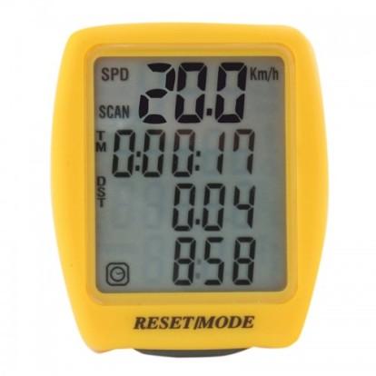 Фото велокомпьютер Tour de France проводной 14 функций (желтый)