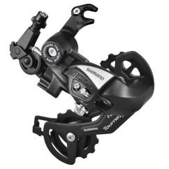 Фото переключатель задний для велосипеда на 6-7 скоростей Shimano TX55 (черный) крюк