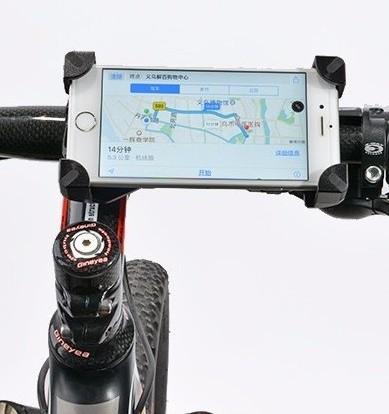 Фото Держатель для телефона на руль велосипеда (регулируемый) черный