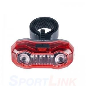 Фото велофонарь задний 5 диодов Sahoo красный свет