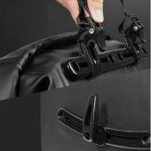 Фото Велосумка на багажник боковая Roswheel 20L водонепроницаемая, черная