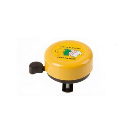 механический желтый звонок велосипед
