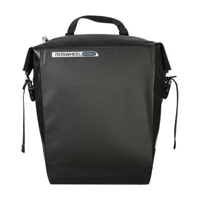 Велосумка на багажник боковая Roswheel 20L водонепроницаемая, черная