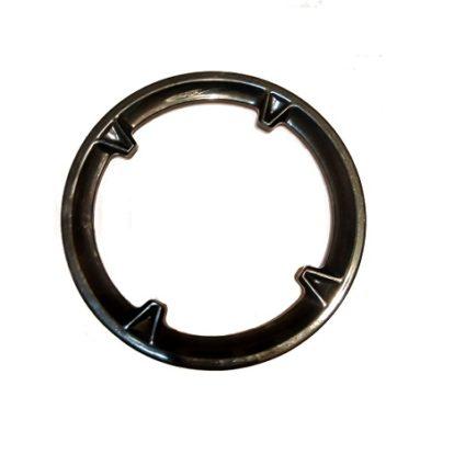 Фото Защита передней звезды велосипеда, 4 отверстия, чёрная