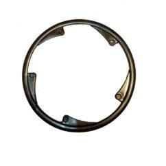 Фото защита передней звезды велосипеда , 5 отверстий, черная