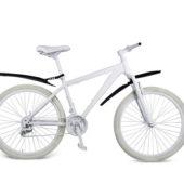 Фото Комплект грязезащитных щитков для велосипеда, черный