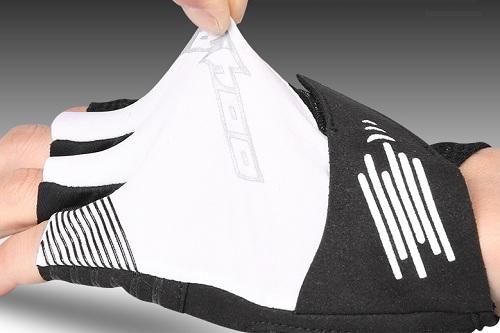 Фото перчатки велосипедные Sahoo бело-черные