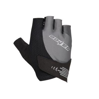 Фото перчатки велосипедные Sahoo серо-черные