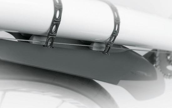 Брызговик передний на раму велосипеда SKS X-Board , черный