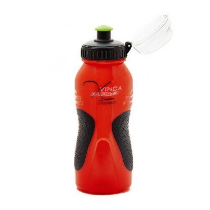 Фото фляга для велосипеда Vinca Sport (черно-красная) 500ml с защитным колпачком (Копия)