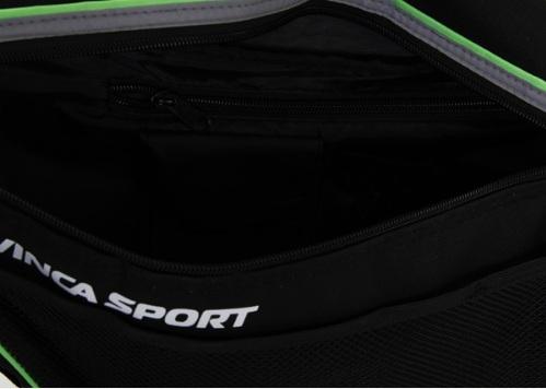 Картинка Сумка под раму велосипеда Vinca Sport, большая, черно-зеленая