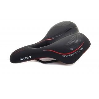 Фото седло для велосипеда Vinca Sport Marso, черное-красное