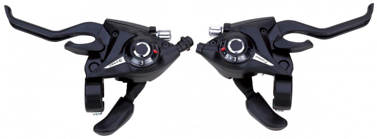 Фото комплект шифтеров Vinca Sport (правый+левый), 3х7 скорости (черный)