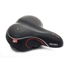 Фото cедло для велосипеда с пружинами Vinca Sport Azuro, черное-красное
