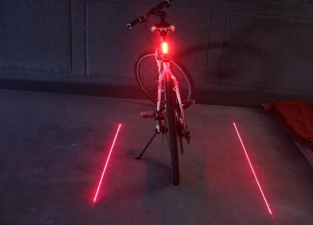 Фото задний фонарь с лазерными дорожками для велосипеда Vinca Sport, 5 диодов