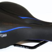Фото седло для велосипеда Vinca Sport Marso, черное-синее